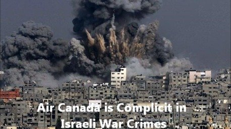 Air Canada is Complicit in Israeli War Crimes!